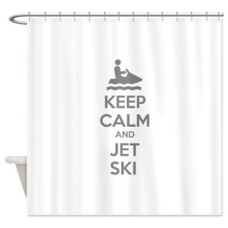 Keep Calm And Jet Ski Shower Curtain Use Code FREECART At Checkout