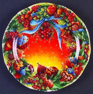 Gien Assiette De Noel Canape Plate, Fine China Dinnerware   Annual Christmas Pla