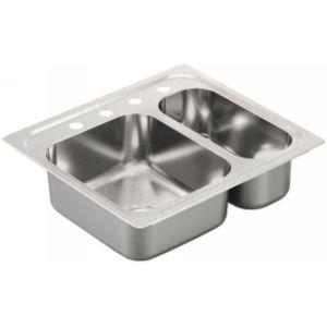 Moen G202714 2000 Series Stainless steel 20 gauge double bowl sink