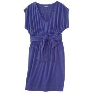 Merona Womens Shirred Dress w/Tie Back   Blue   XXL