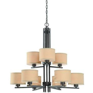 Dolan Designs DOL 2942 34 Tecido 9 Light Chandelier