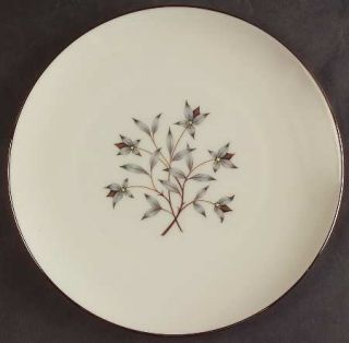 Lenox China Princess Salad Plate, Fine China Dinnerware   Gray & Tan Floral Cent
