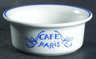 Bernardaud Cafe Paris Blue Ramekin, Fine China Dinnerware   Residence,Blue Decor