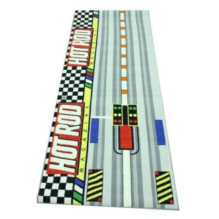 Hot Rod Magazine Area Rug (26 X 66) (MultiPattern: KidsTip: We recommend the use of a non skid pad to keep the rug in place on smooth surfaces.All rug sizes are approximate. Due to the difference of monitor colors, some rug colors may vary slightly. We tr