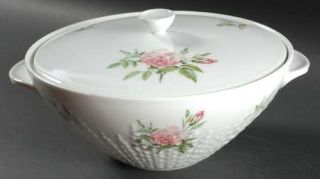 Hutschenreuther Rosita Round Covered Vegetable, Fine China Dinnerware   Excellen