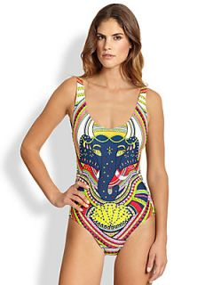 Mara Hoffman One Piece Ganesh Maillot Swimsuit   Ganesh White
