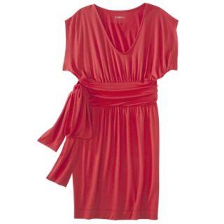 Merona Womens Shirred Dress w/Tie Back   Red Rave   XXL