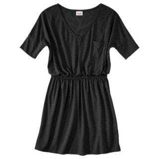 Mossimo Supply Co. Juniors V Neck Elbow Sleeve Dress   Black S(3 5)