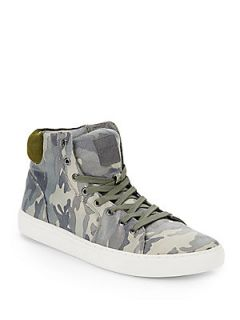 Reid Camouflage High Tops   Olive