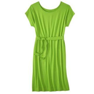 Merona Womens Knit Belted Dress   Zuna Green   XXL