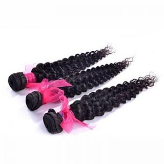 Brazilian Deep Wave Weft 100% Virgin Remy Human Hair Extensions Mixed Lengths 26 28 30 Inches