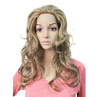 Capless Long Synthetic Curly Hair Wig