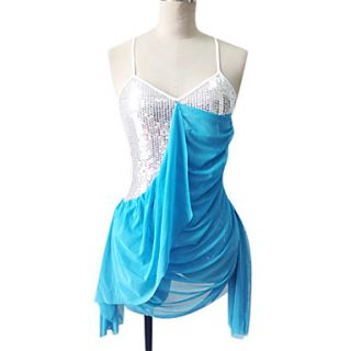 Dancewear Polyester And Sequins Latin Dance Dress for Ladies