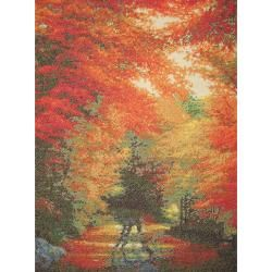 Autumn In New England Counted Cross Stitch Kit 16x12 16 Count