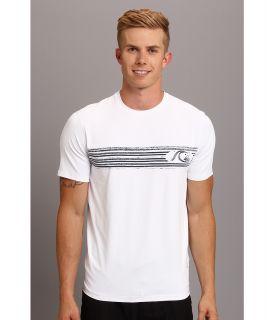 Quiksilver Waterman Off the Wall 2 Rash Guard/Surf Shirt Top Mens Clothing (White)