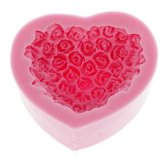 Rose Heart Shape Silicone Mold Baking Mould