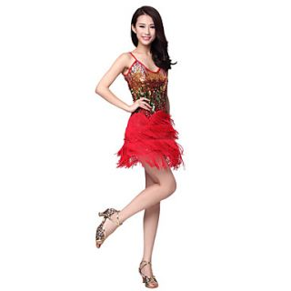 Dancewear Polyester Latin Dance Dress For Ladies(More Colors)