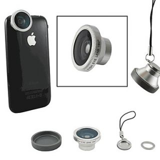 180 Degree Fish Eye Lens for iPhone 4/4S, iPad and Other Cellphone