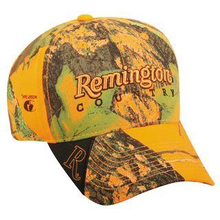 Remington Blaze Orange Camo Adjustable Hat