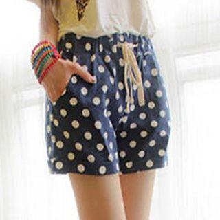 BeiYan Womens Sweet College Polka Dots Short Pants (Screen Color)