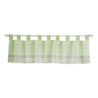 Trend Lab Lauren Tab Top Valance, Green/White/Gray
