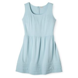 Merona Womens Plus Size Short Sleeve Ponte Dress   Blue X