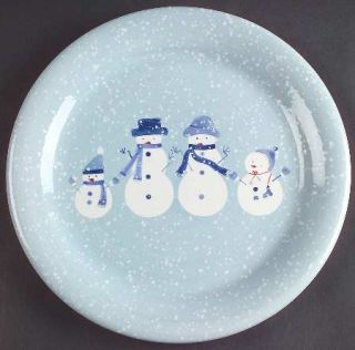 Home Winter Frost Dinner Plate, Fine China Dinnerware   Snow Scene With Snow Peo