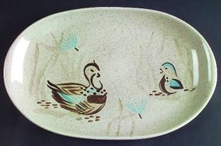 Red Wing Bob White 13 Oval Serving Platter, Fine China Dinnerware