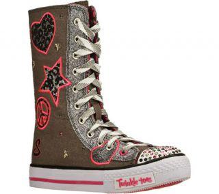 Infant/Toddler Girls Skechers Twinkle Toes Shuffles Megastar   Gray/Pink Sneake