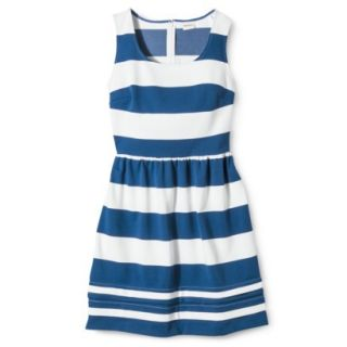 Merona Petites Short Sleeve Ponte Dress   Black/Cream SP