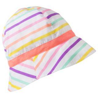 Circo Infant Toddler Girls Bucket Hat   White 2T/5T