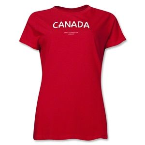 Canada 2013 FIFA U 17 World Cup UAE Womens T Shirt (Red)
