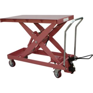 Northern Industrial Foot Operated Lift Table Cart   2,200Lb. Capacity