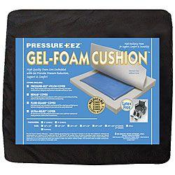 Hudson Pressure Eez Gel foam 18x16 Nylon Wheelchair Seat Cushion