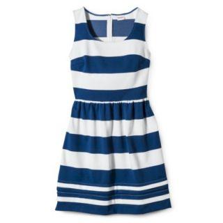 Merona Womens Ponte Dress   Blue/Sour Cream   XL