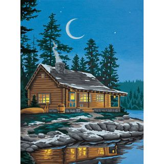 Paint By Number Lakeside Cabin 12 X 9 Kit